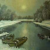 Теплая зима 2, художник Геннадий Литвиненко