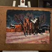 Иркутский дворик (1), художник Валерий Вальков