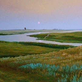 Вечер на реке Маныч
