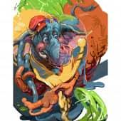 Слоник (1), художник Игорь Комаров