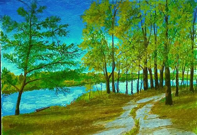 Дорожка вдоль реки