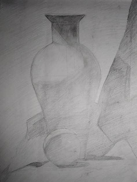 Карандашный натюрморт