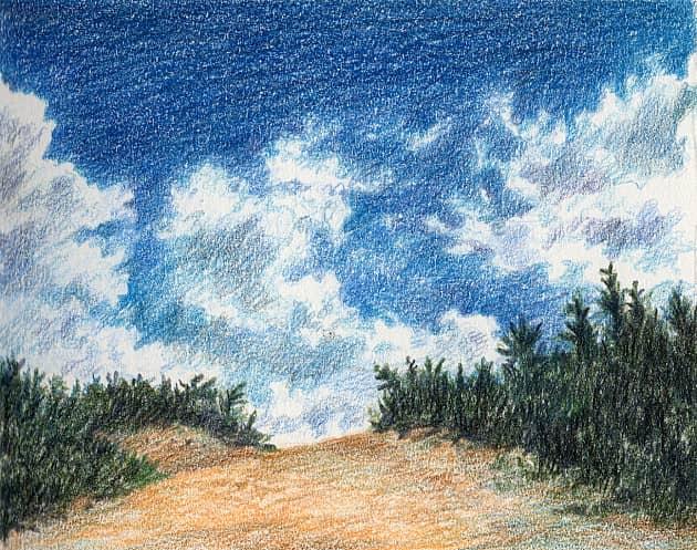 Глубокое синее небо