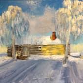 """Этюд """"Банька"""" (1), художник И.Б."""