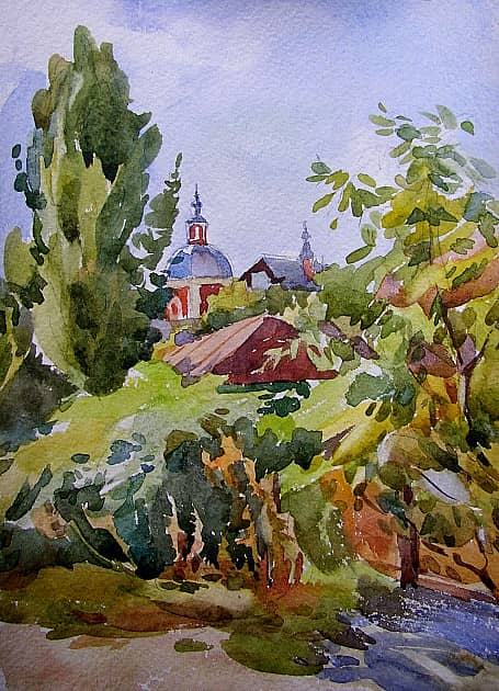 Воронеж. Вид на Ильинский храм. (Тёплый сентябрь)
