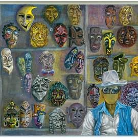 Продавец масок