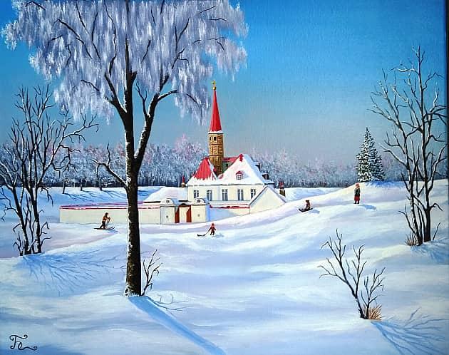 Зимний день у Приоратского дворца