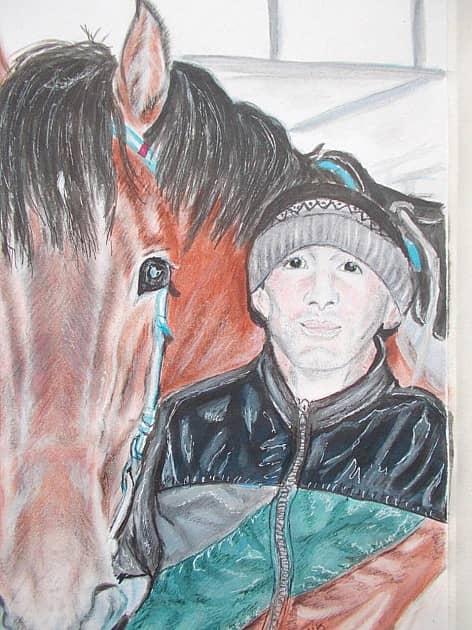 Портрет с лошадью.