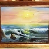 Морской прибой (1), художник Ольга Шибанова