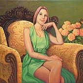 Портрет Е. Касиновой, художник Геннадий Литвиненко