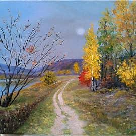 """""""Осенний пейзаж"""" Есть в светлости осенних вечеров умильная, таинственная прелесть"""