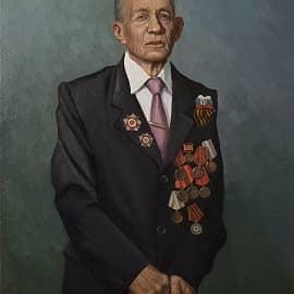 Портрет ветерана ВОВ И.А. Диденко
