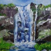 Водопад (1), художник Ольга Шибанова