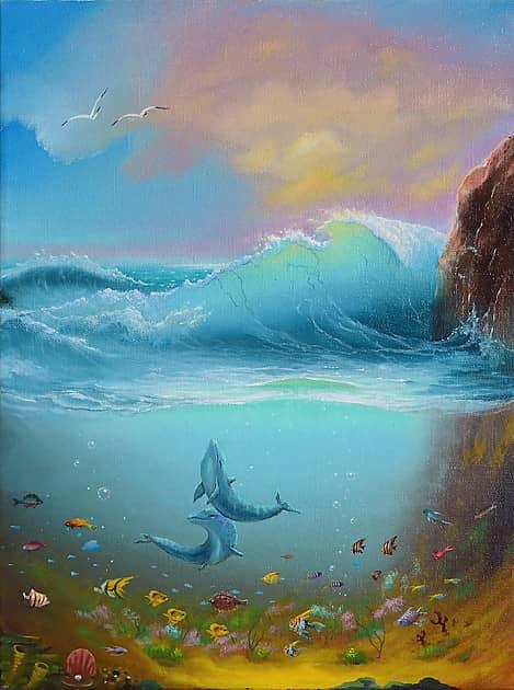Устремляющиеся дельфины