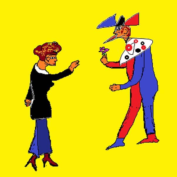 влюбленный клоун