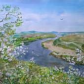 Цветущий май, художник Ирина Голубина