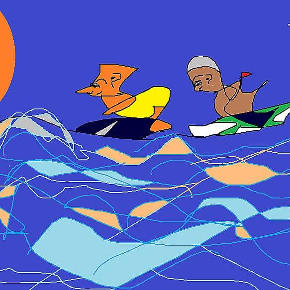 вечерний сёрфинг