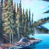 Горное озеро. (1), художник Олег Дроздов