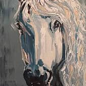 белая лошадь Мечта, художник Татьяна