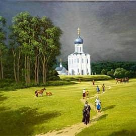 Дорога в храм Покрова
