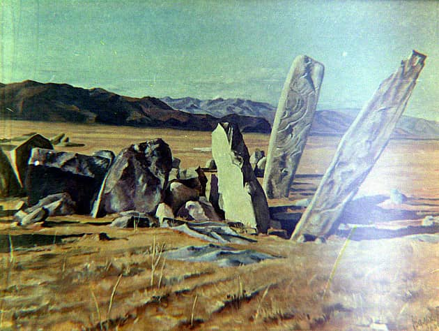 Оленные камни. Монголия