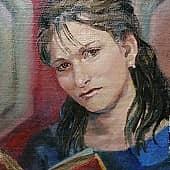 Родная моя, художник Елена Свирина