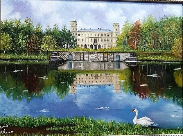 Гатчинский дворец со стороны озера