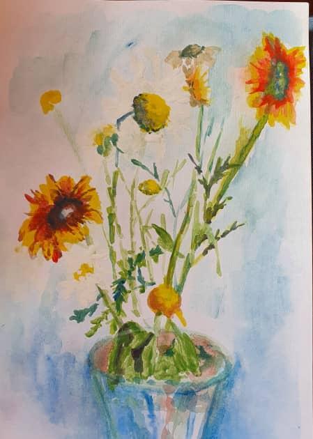 букет осенних цветов