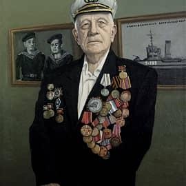 Портрет ветерана ВОВ Е.И. Будыльского