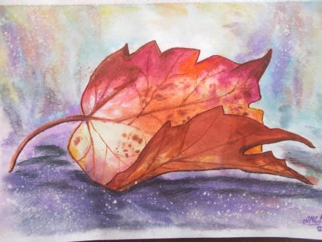 Осенний листок.