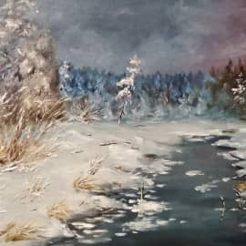 Зимний пейзаж, сюжет 2