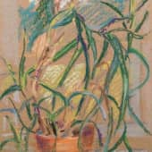 Цветок на окне (1), художник Елена В.К.
