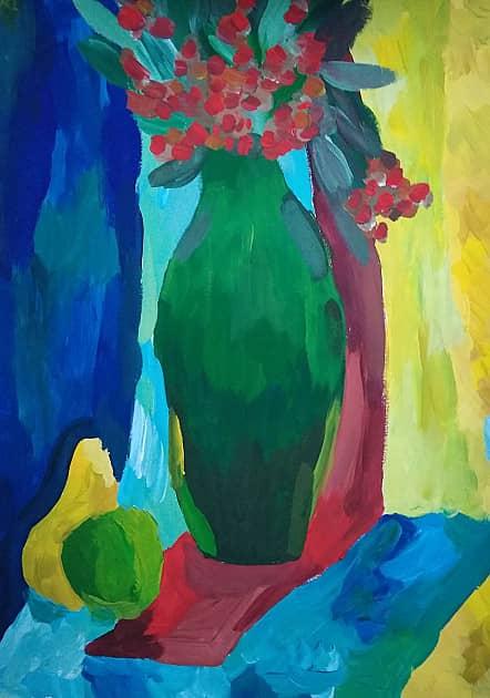 Натюрморт, ваза с цветами