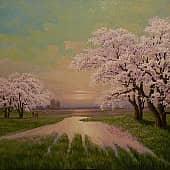 Цветущая весна, художник Геннадий Литвиненко