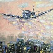 Самолет, художник Татьяна