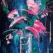 Fleurs papillons, художник SvetaS
