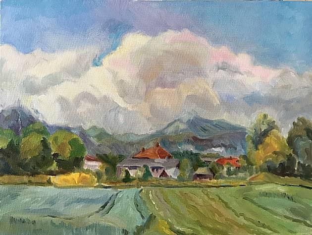 Окрестности озера Блед. Словения.
