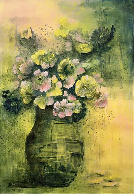 Цветы в вазе.
