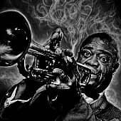 Louis Armstrong, художник Евгения Негода
