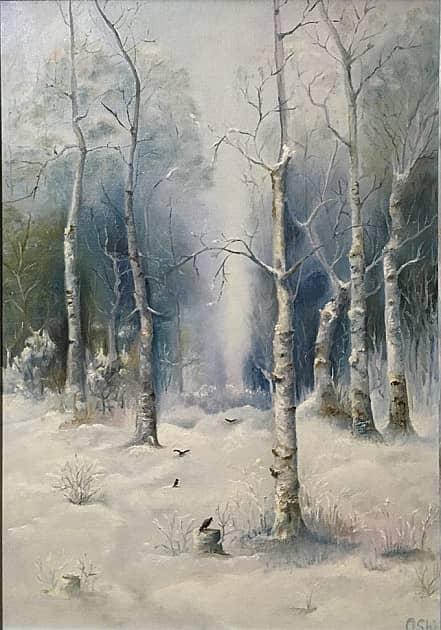Зима на опушке леса