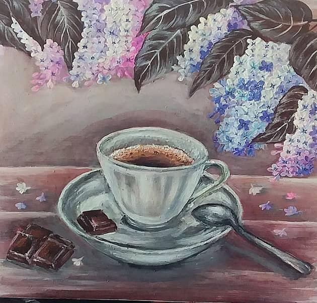Сирень и кофе