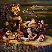 Натюрморт с грибами, художник Геннадий Литвиненко