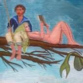 Подлодники у русалок после третьей термоядерной войны, когда женщины вымерли. (2), художник Леонид