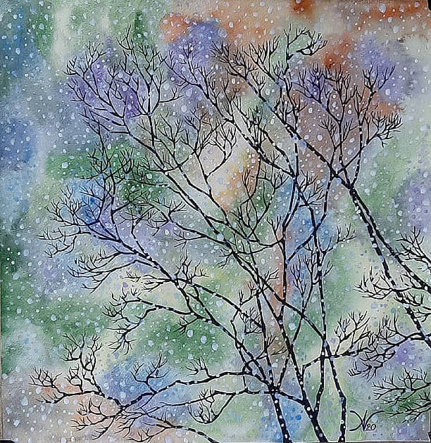 """""""Деревья под снегопадом"""""""
