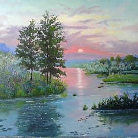 """""""Закат на озере"""""""