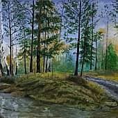 Апрельский лес, художник Константин Гуков