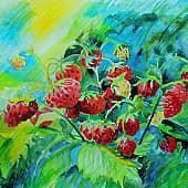 Сладкие ягоды, художник Елена Свирина