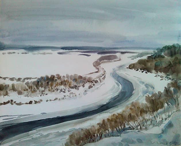 Лента реки. (Зима в Кривоборье)