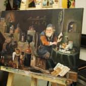 Старый учитель (1), художник Ольга Шибанова