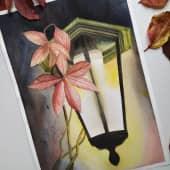 Осенний фонарь (1), художник Анастасия